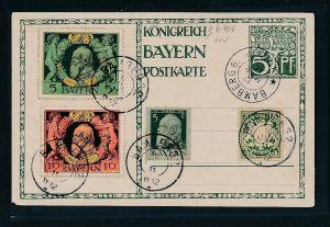 Bayern Karte ...  (g6107 )  siehe Bild