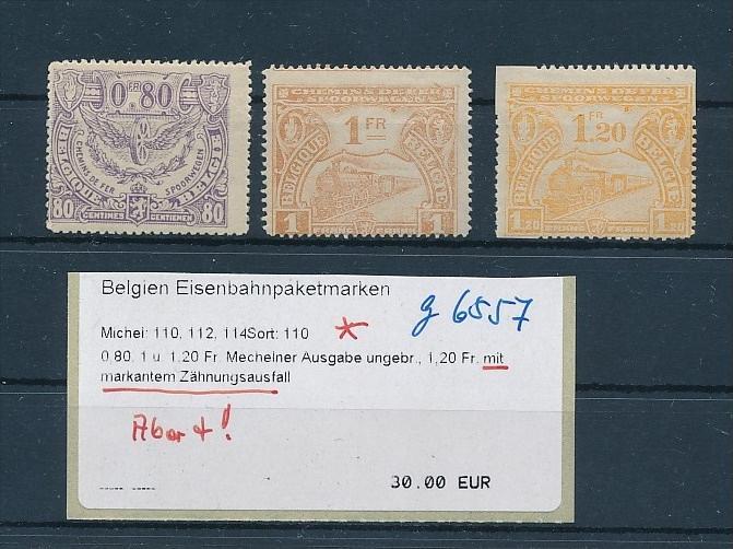 Belgien Lot  Eisenbahn Marken mit Abart  *    (g6557 )  siehe Bild