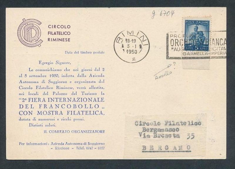 Italien Sammler Karte .... (g6704 ) siehe Bild