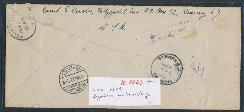 Usa Zeppelin Brief Nach Deutschland Ze3343 Siehe Scan Nr