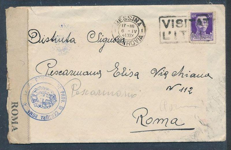 Italien-Zensur Post  Beleg  ( g6911 ) siehe Foto
