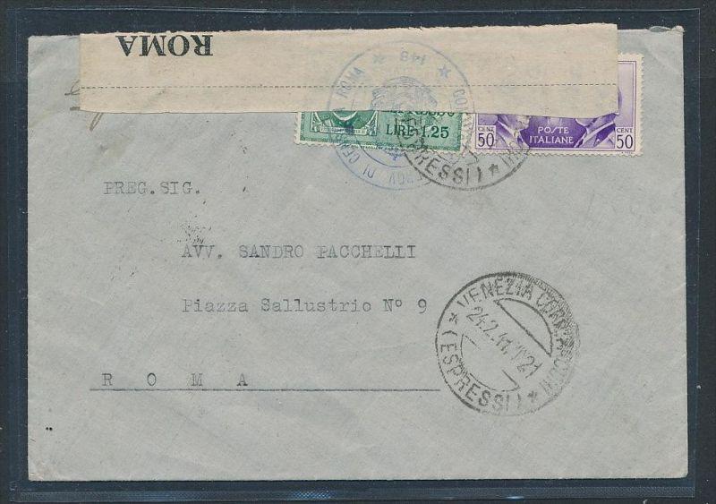 Italien-Zensur Post  Beleg  ( g6914 ) siehe Foto