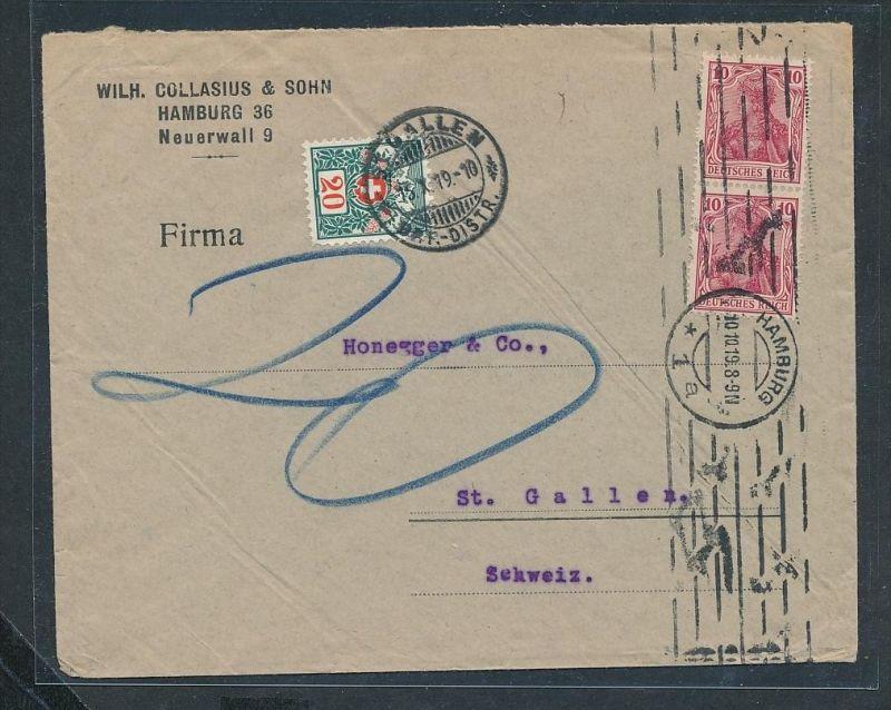 Germania Firmen Post In Die Schweiz Nachporto Ze3144 Siehe Scan