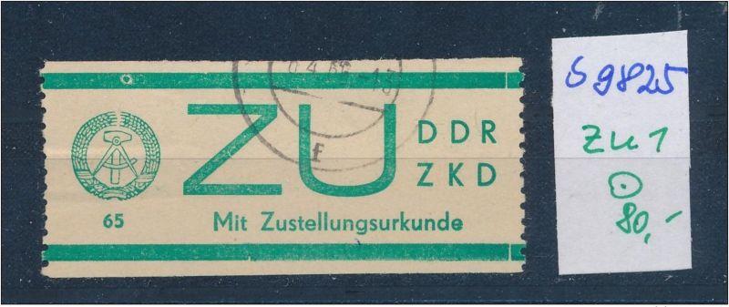 DDR ZKD   Nr . ZU 1  o  (s9825  )  siehe Bild
