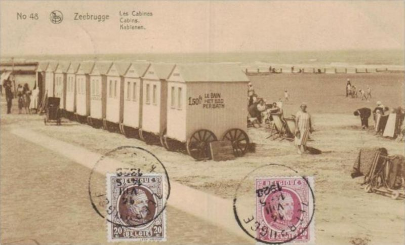 Belgien  - alte Karte- Marke bildseitig     (k2899  ) siehe Bild !