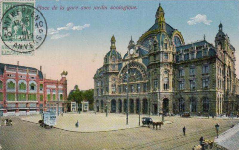 Belgien  - alte Karte- Marke bildseitig     (k2895  ) siehe Bild !