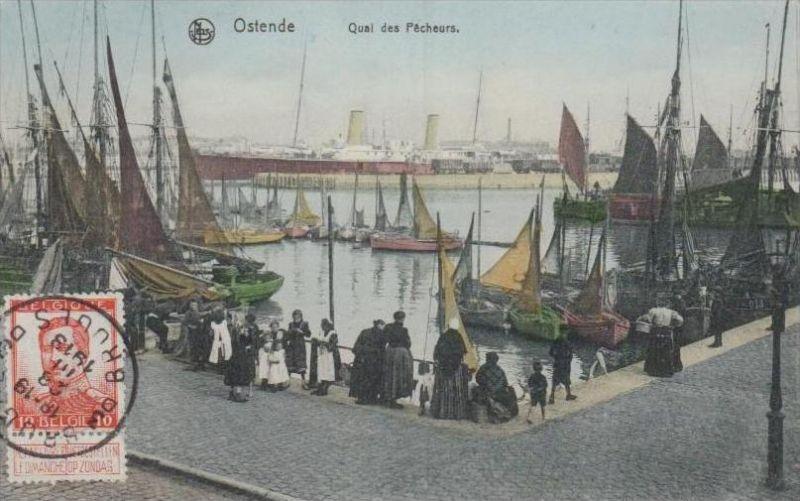 Belgien  - alte Karte- Marke bildseitig     (k2893  ) siehe Bild !