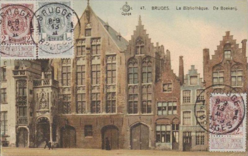 Belgien   - alte Karte- Marke bildseitig     (k3005  ) siehe Bild !