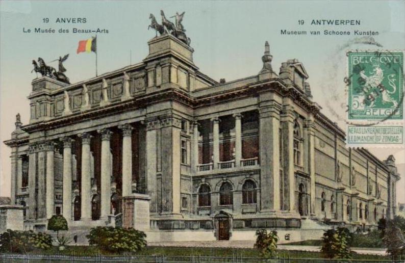 Belgien    - alte Karte- Marke bildseitig     (k2939 ) siehe Bild !