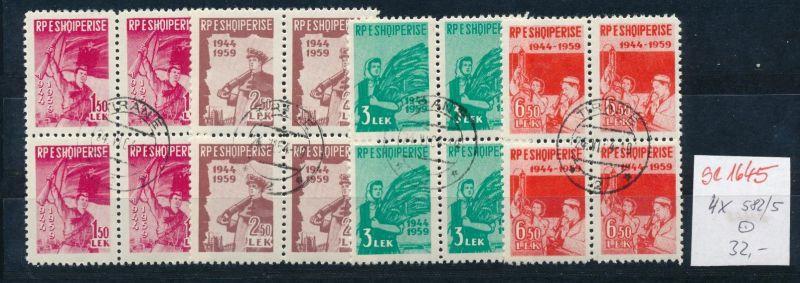 Albanien Nr. 4x 582-5    o  ( se1645    ) siehe Foto