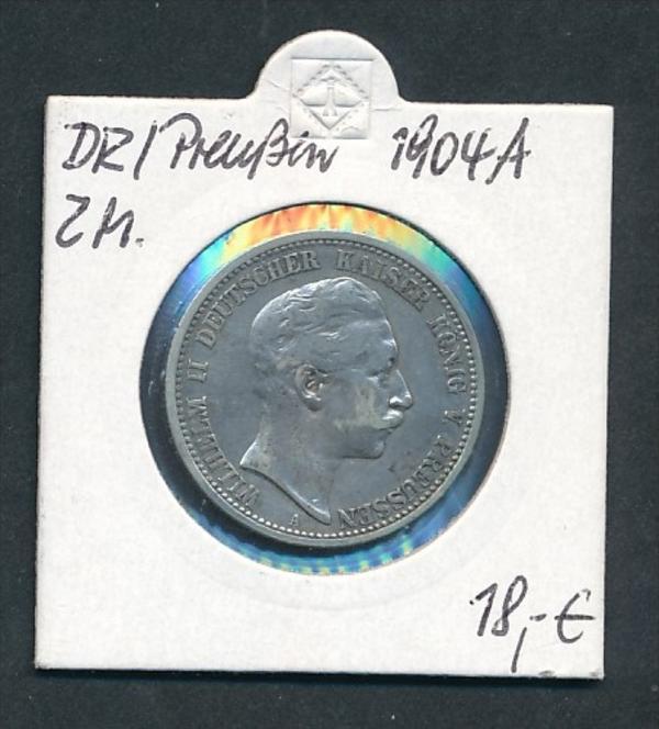 Preussen-Wilhelm  2,-Mark -Silber  1904 (x 2133  ) siehe Foto