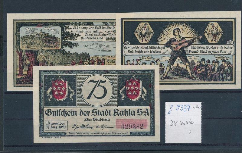 Kahla  - Lot  Notgeldscheine   (g9337   ) siehe Bild !