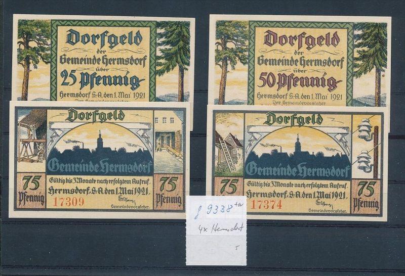 Hermsdorf - Lot  Notgeldscheine   (g9338   ) siehe Bild !