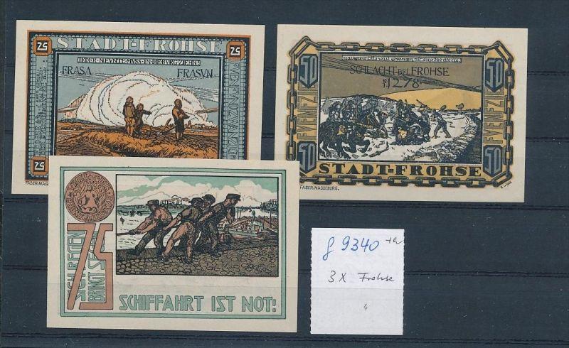 Frohse - Lot  Notgeldscheine   (g9340   ) siehe Bild !
