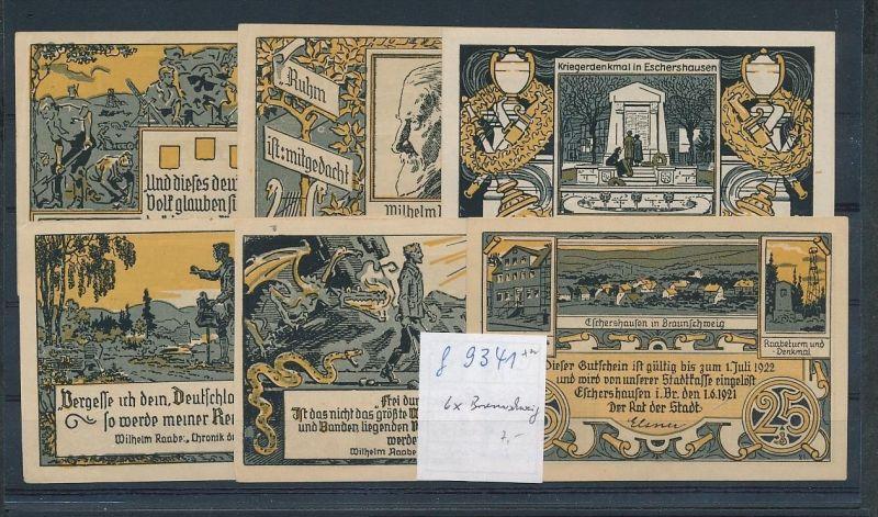 Braunschweig  - Lot  Notgeldscheine   (g9341   ) siehe Bild !