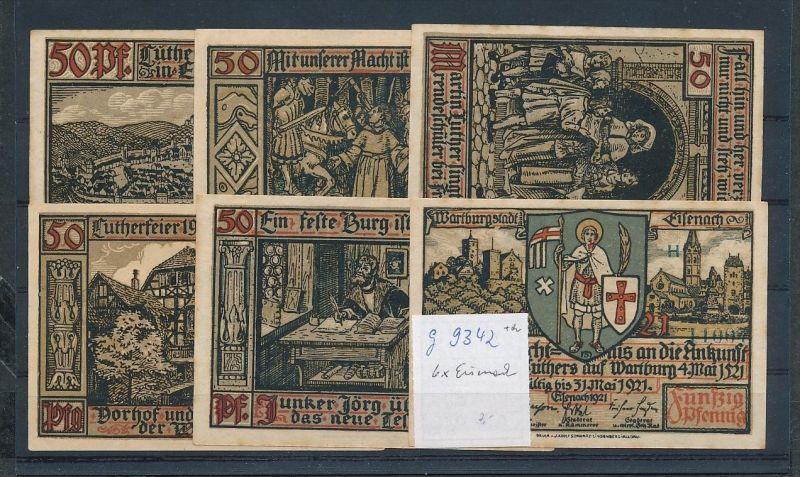 Eisenach   - Lot  Notgeldscheine   (g9342   ) siehe Bild !