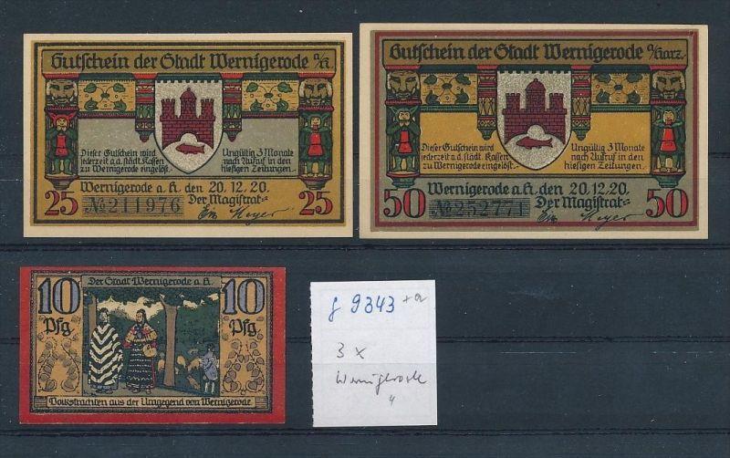 Wernigerode   - Lot  Notgeldscheine   (g9343   ) siehe Bild !