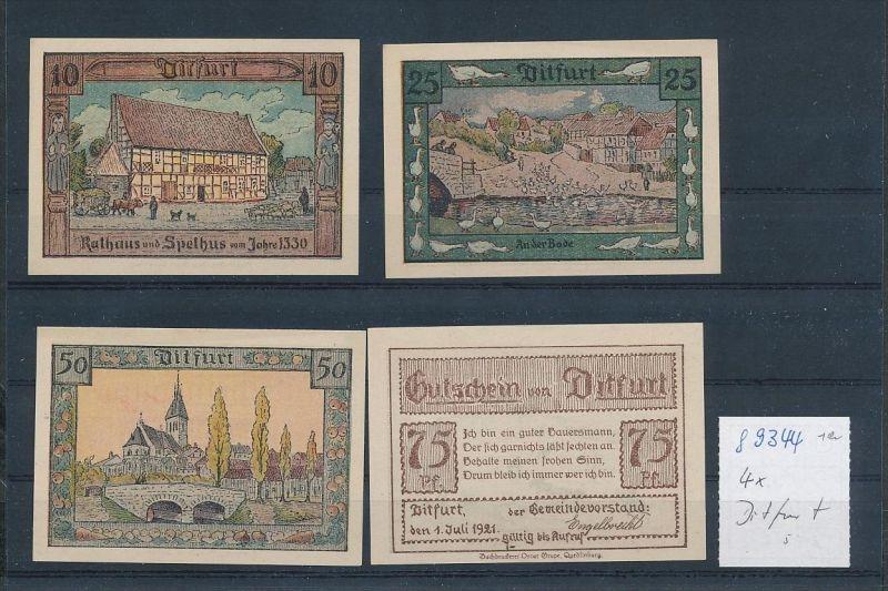 Ditfurt  - Lot  Notgeldscheine   (g9344   ) siehe Bild !