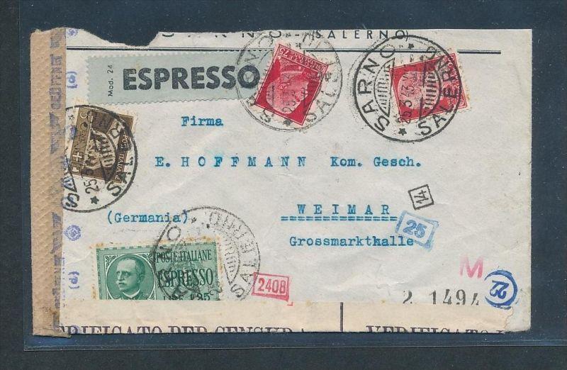 Italien alter Zensur Beleg ..   (g8386  ) siehe Bild !