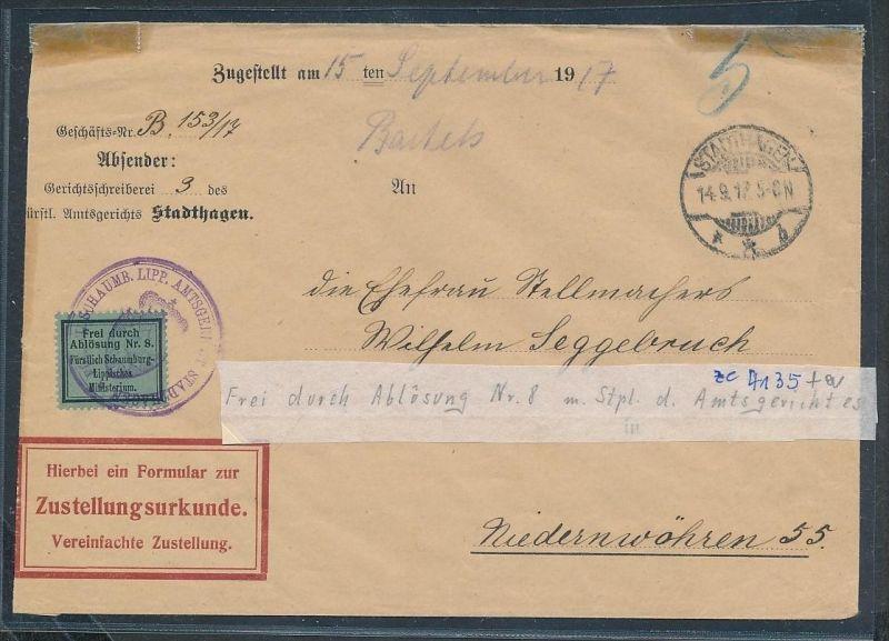 D.Reich  -Gerichts Brief   ( ze4135   ) siehe Foto