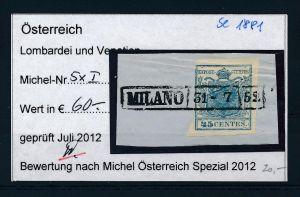 Österreich /Lombardei Nr. 5xI  o ( se1881  ) siehe Bild !