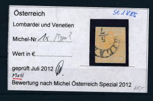 Österreich /Lombardei Nr. 1 x  Type ? o ( se1885  ) siehe Bild !