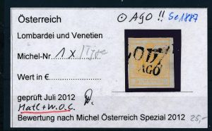 Österreich /Lombardei Nr. 1 x  Type ? o ( se1887  ) siehe Bild !