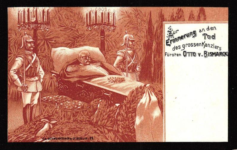 Tod v. O.v.Bismark ...nette alte Karte   (k4991  )  siehe Bild