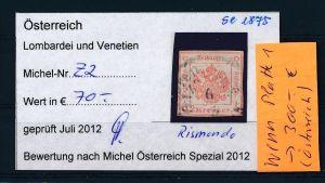 Österreich-Lombardei  Nr. Z 2  o  ( se1875   ) siehe Bild !