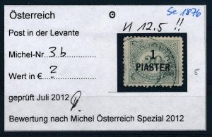 Österreich-Lombardei  Nr.Porto 3b  o  ( se1876   ) siehe Bild !