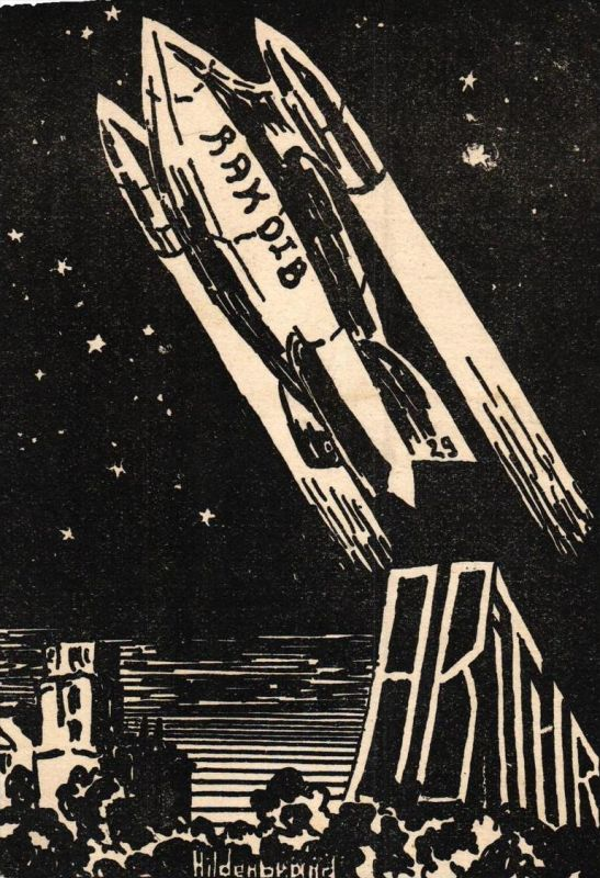 Raketen 30er Jahre ? .. ..nette alte Karte   ( k6673  ) siehe Bild !