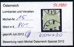 Österreich-Lombardei Nr . 30 A    o     ( se1980  ) siehe Bild  !
