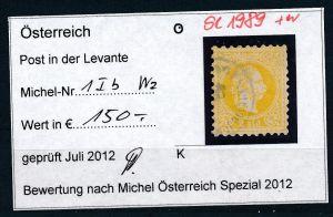 Österreich-Levante Nr . 1 I b  o     ( se1989   ) siehe Bild  !