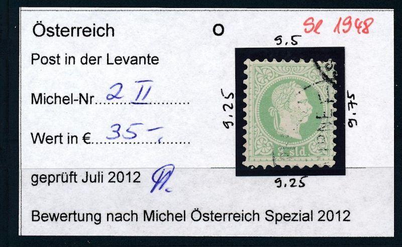 Österreich-Levante Nr . 2 II   ( se1948   ) siehe Bild  !