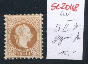 Österreich-Levante Nr . 5 II*    ( se2048   ) siehe Bild  !