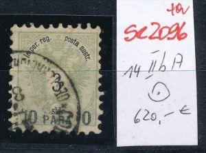 Österreich-Levante Nr . 14 II bA     ( se2096   ) siehe Bild  !