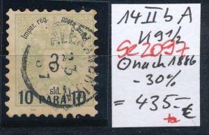 Österreich-Levante Nr . 14 II bA     ( se2097   ) siehe Bild  !