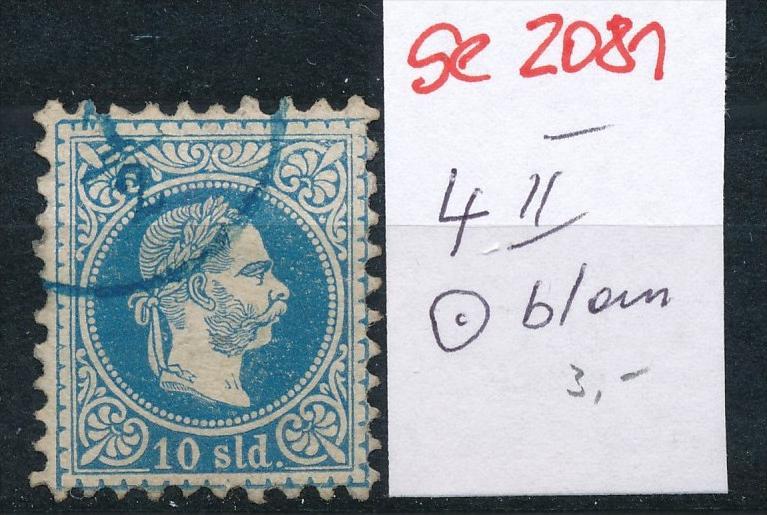 Österreich-Levante Nr . 4 II   ( se2081   ) siehe Bild  !