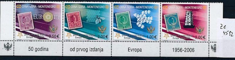 Montenegro  Cept- Satz Streifen  Unterrand   2006  **/MNH (ze4592 ) discount  -siehe Bild !