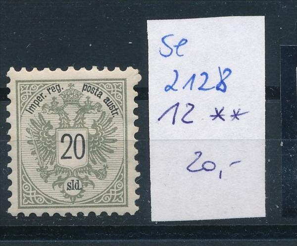 Österreich -Levante  12 **    ( se2128 ) siehe Bild !