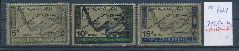 Jemen  Nr. 719-21 mit Aufdruck ?  **   ( ee641 ) siehe Bild !