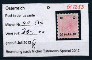 Österreich -Levante Nr. 40 ** ( se2283 ) siehe Bild !