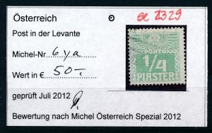 Österreich -Levante Nr. P 6ya   o  ( se2329 ) siehe Bild !