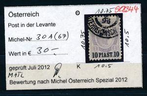 Österreich -Levante Nr.30 A   o  ( se2344 ) siehe Bild !