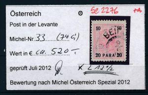 Österreich -Levante Nr. 33   o    ( se2276 ) siehe Bild !