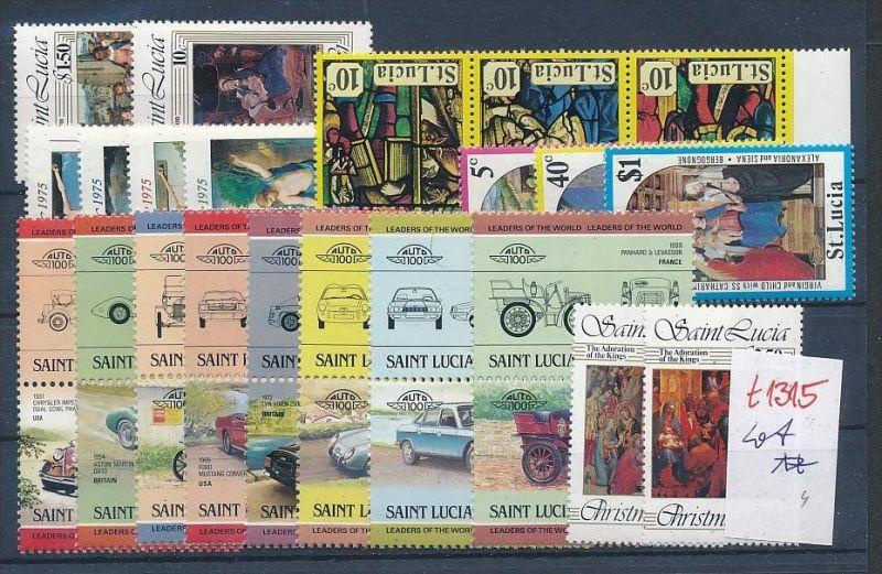 St.Lucia  - Lot nichts gerechnet....  **  (t1315 ) siehe Bild !