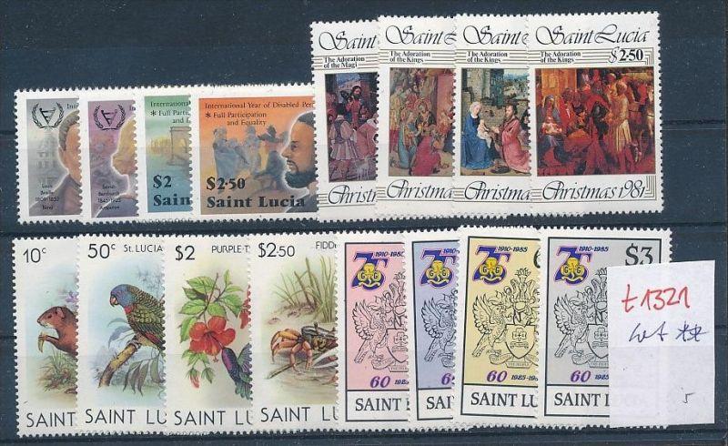 St.Lucia   - Lot nichts gerechnet....  **  (t1321 ) siehe Bild !