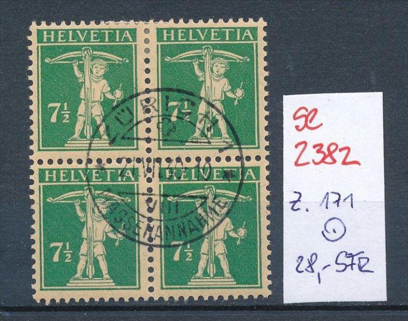 Schweiz Nr. 4x 171  o (Zumstein Nr.+Preis !) ( se2382) siehe Bild !