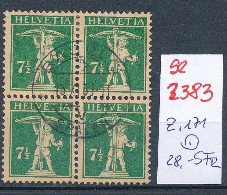 Schweiz Nr. 4x 171  o (Zumstein Nr.+Preis !) ( se2383) siehe Bild !