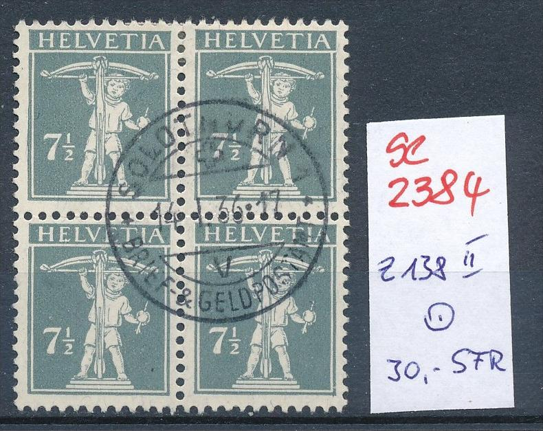 Schweiz Nr. 4x 138 II    o (Zumstein Nr.+Preis !) ( se2384) siehe Bild !